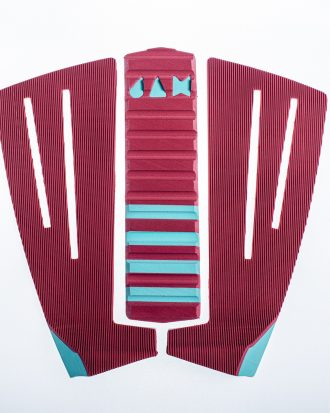 3 PIECE TRACTION PAD BORDEAUX/TOURQUOISE