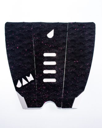 SMALL 3 PIECE TRACTION PAD BLACK/PINK DOTTED