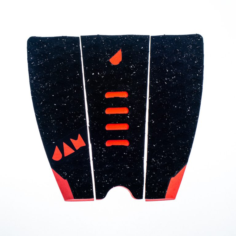 SMALL 3 PIECE TRACTION PAD BLACK/RED DOTTED