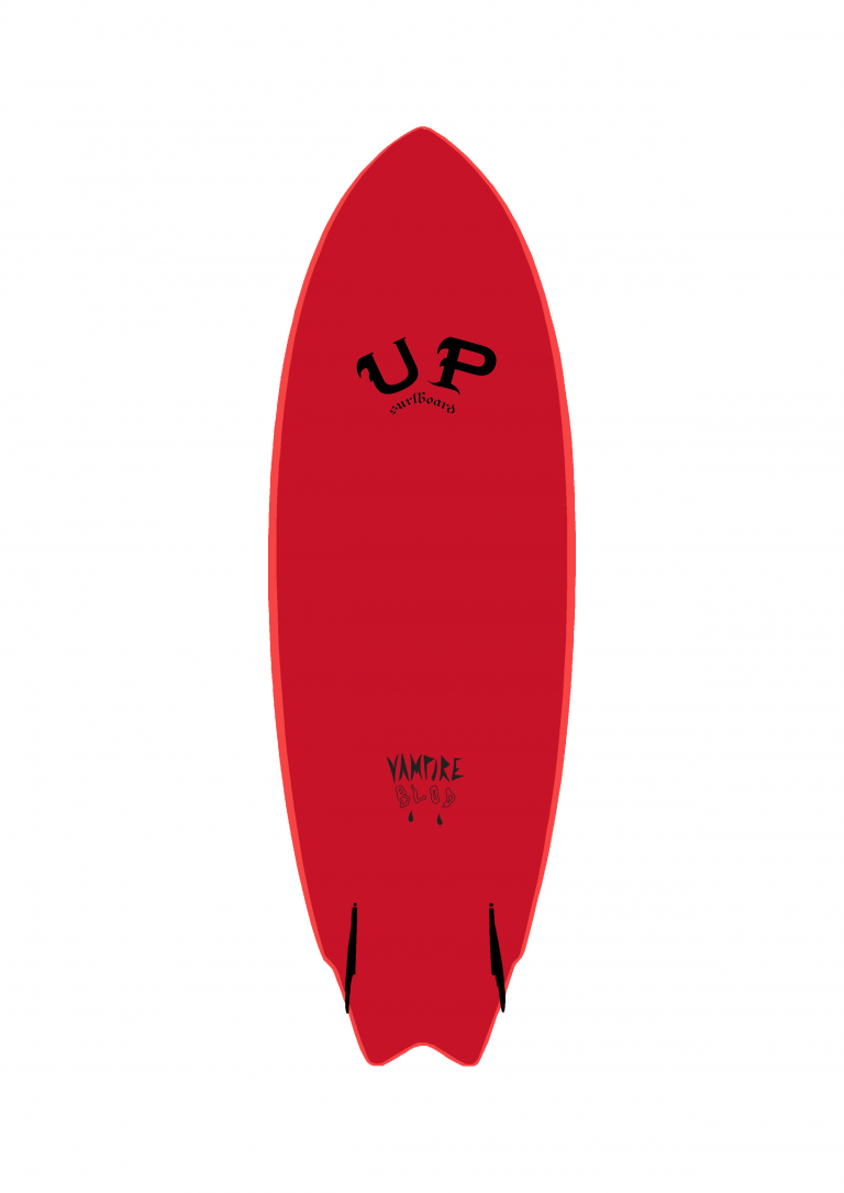 SURFBOARD TWIN FIN UP VAMPIRE BLOOD RED